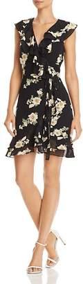 Bardot Ruffled Floral Faux-Wrap Dress