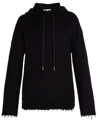 Helmut Lang Distressed Wool Hooded Sweater - Mens - Black