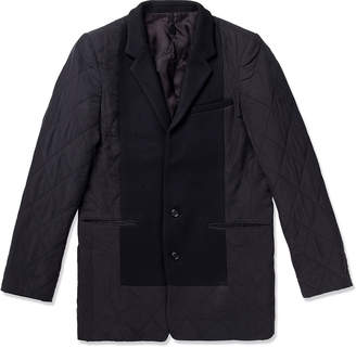 Munsoo Kwon Black Two Button Quilted Jacket