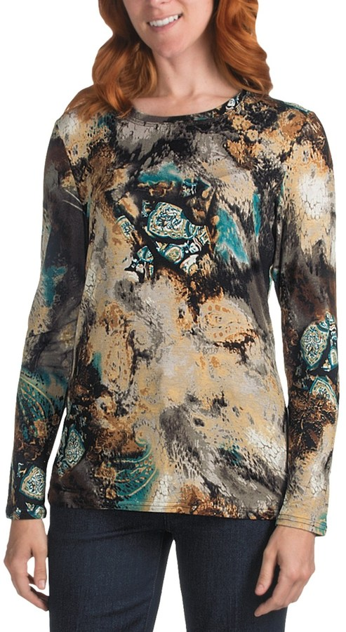 FDJ French Dressing Indigo Bliss T-Shirt - Crew Neck, Long Sleeve (For Women)