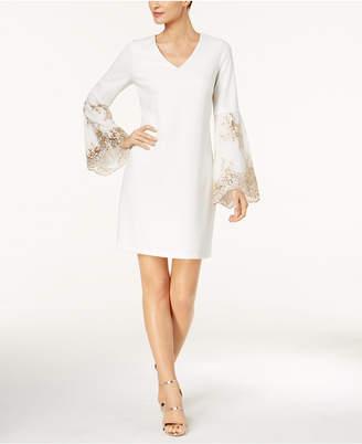 MSK Embellished Bell-Sleeve Shift Dress