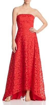 Keepsake Headlines Strapless Lace Gown
