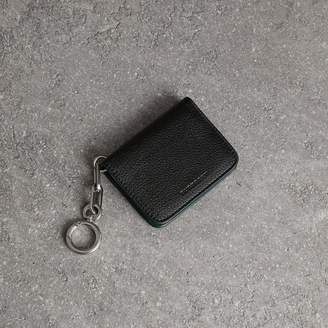 Burberry Link Detail Leather ID Card Case Charm