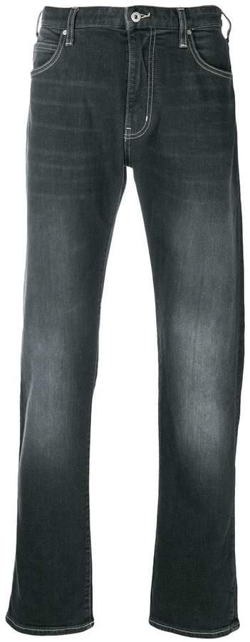 Emporio Armani faded jeans