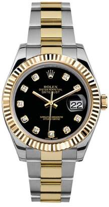 Rolex Datejust II 116333 Black Diamond Dial 41mm Mens Watch