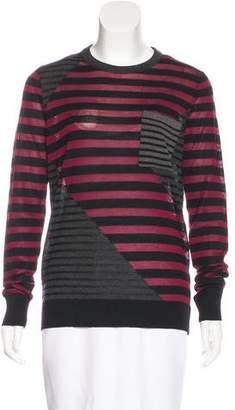 Proenza Schouler Wool & Silk-Blend Striped Sweater