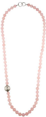 Tiffany & Co. Rose Quartz Bead Necklace $595 thestylecure.com