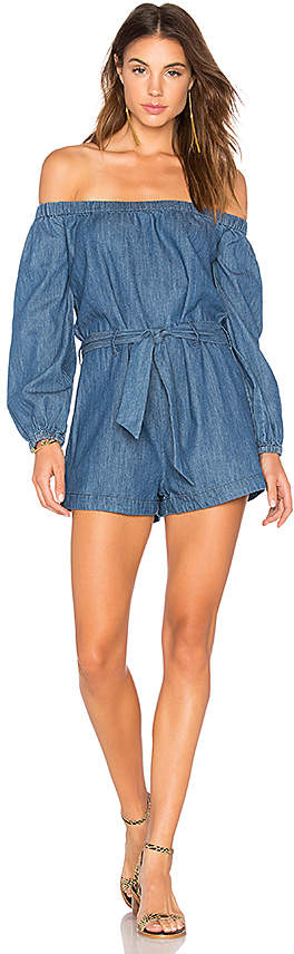 Free People Tangled In Willows One Piece in Blue