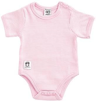 Pippi Baby-Girls Short Sleeve with Buttons O.Shoulder Bodysuit,(Manufacturer Size:50)