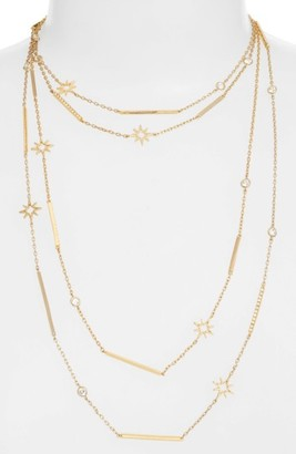 Women's Jenny Packham Stardust Multistrand Necklace $88 thestylecure.com