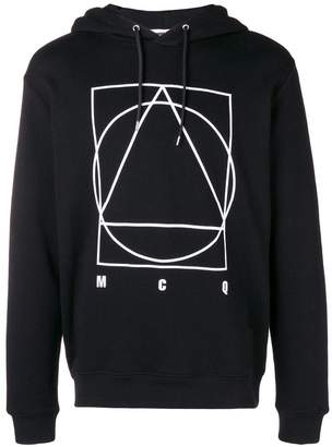 McQ geometric print hoodie