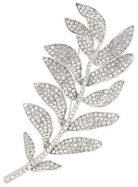 Oscar de la Renta Crystal-embellished brooch
