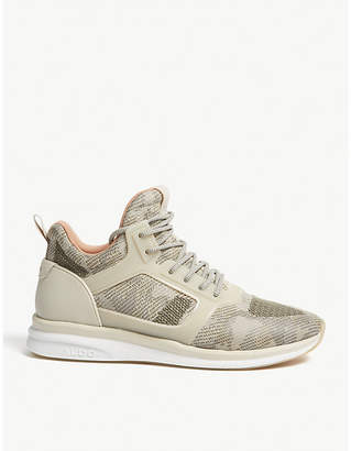 Aldo Pinzano rubber-panelled stretch-knit trainers