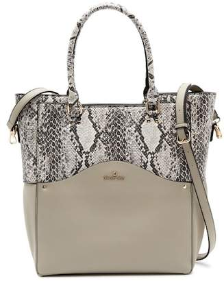 Celine Dion Motif Snake Embossed Leather Tote