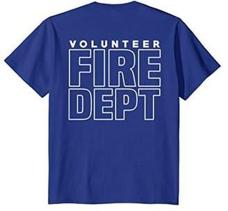 Volunteer Fire Department T-Shirt For Firefighters Firemen