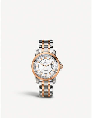 Rosegold CARL F BUCHERER 00.10915.07.13.21 Manero Autodate stainless steel rose-gold sapphire crystal watch