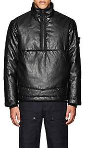 Barneys New York Stone Island XO STONE ISLAND XO MEN'S INSULATED LEATHER COAT-BLACK SIZE S