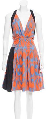 Sophie Theallet Printed Pleated Dress