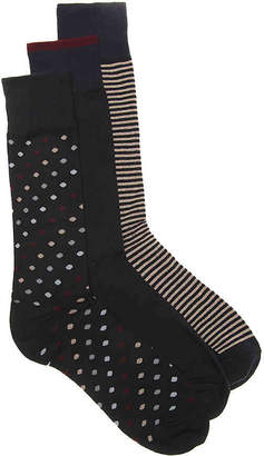 Cole Haan Dot Dress Socks - 3 Pack - Men's