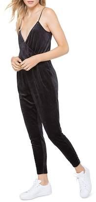 Juicy Couture Black Label Track Velour Crossover Jumpsuit