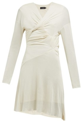 Atlein - Draped Silk Jersey Dress - Womens - Ivory
