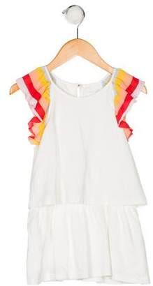 Chloé Girls' Sleeveless Scoop Neck Dress