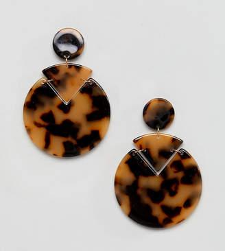 Reclaimed Vintage Inspired Tort Shell Earrings