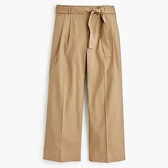 J.Crew Wide-leg cropped pant in cotton-poplin