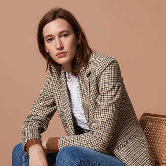 Sandro Tartan tailored jacket
