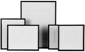 House by John Lewis Aluminium Mounted Photo Frames, Set of 5, Black