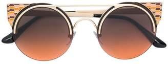 Bulgari enamelled cat eye sunglasses