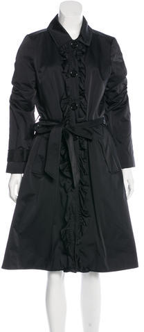 Kate Spade Kate Spade New York Ruffle-Trimmed Trench Coat
