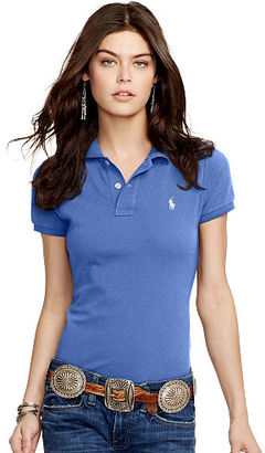 Polo Ralph Lauren Skinny Fit Cotton Mesh Polo $85 thestylecure.com