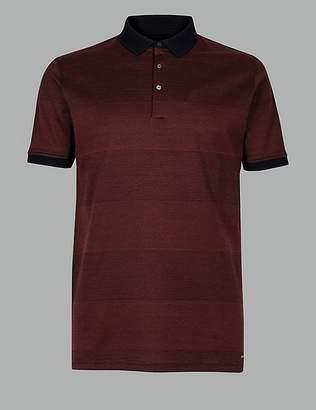 Marks and Spencer Supima® Cotton Striped Polo Shirt