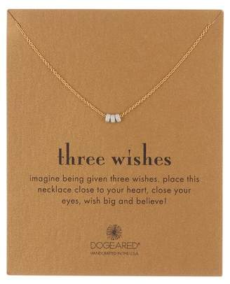 Dogeared Three Wishes Triple Beaded Necklace