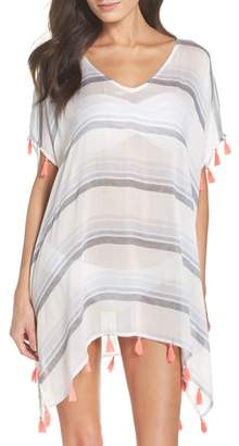 Surf Gypsy Stripe Tassel Cover-Up Poncho