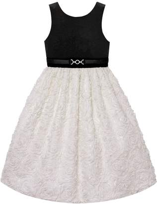 Princess Girls American 7-16 & Plus Size Velvet Soutache Skirt Dress