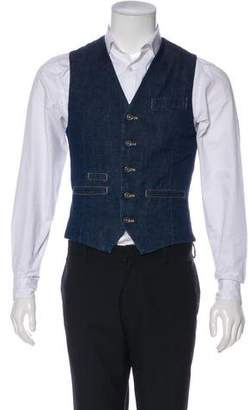 Brunello Cucinelli Denim Button-Up Vest