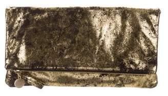 Clare Vivier Metallic Fold-Over Clutch