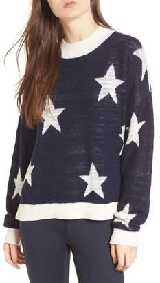 Tommy Jeans Star Pattern Linen Blend Sweater