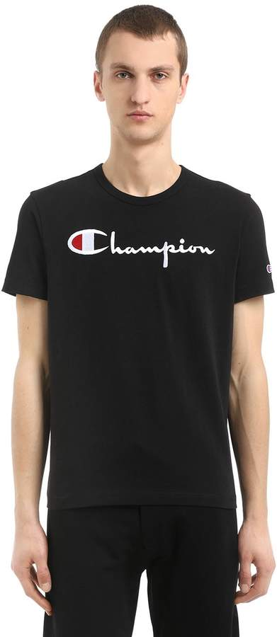 Logo Embroidered Cotton Jersey T-Shirt