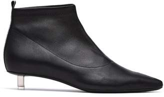 Vic Matié Vic Matie' Black Stretch Leather Half Boot