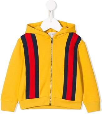 Gucci Kids Web zipped hoodie
