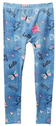 Capelli of New York Doodles Printed Pajama Leggings (Big Girls)