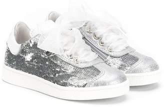 511b93ebbd1 MonnaLisa lace detail metallic sneakers