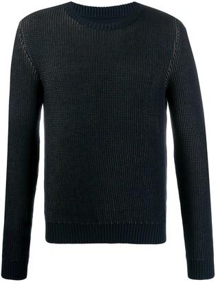 Zanone intarsia knit jumper