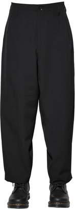 Yohji Yamamoto Wool Gabardine Wide Leg Pants