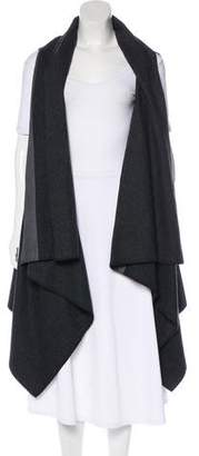 MM6 MAISON MARGIELA Draped Front Wool Vest w/ Tags