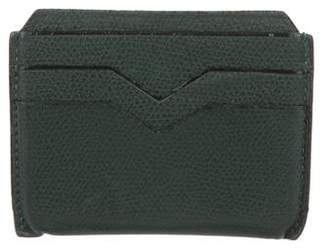 Valextra Grained Leather Cardholder