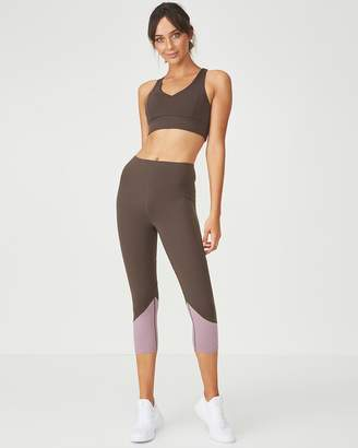 Tempo Spliced Sports Crop